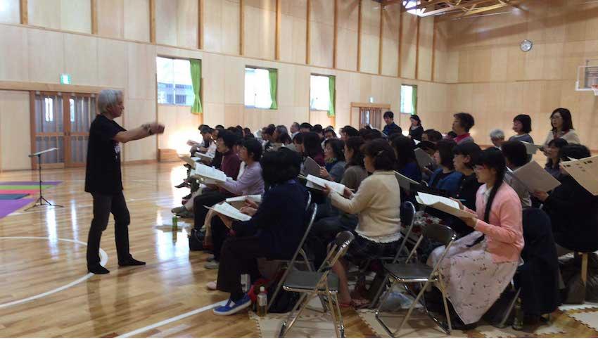 熊本と福岡の合唱団で合同練習を実施しました。